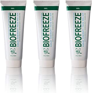 Biofreeze Cold Therapy Pain Relief Gel Tube 4 oz ( Pack of 3)