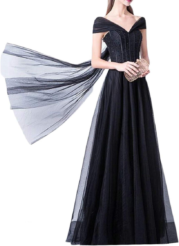ZXFHZSCA Women's V Neck Short Sleeve Evening Wedding Long Party Maxi Dress