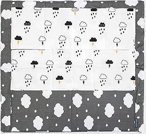 Spachy Storage Bag Multi-pockets 50cm Bed Organizer Crib Multi-layer Hanging Baby Supplies Cartoon Multifunctional Rain Cloud