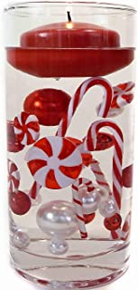 Christmas Candyland: Red & White Pearls, Acrylic Lollipops & Candy Canes, and Festive Gems -Jumbo/Assorted Sizes Vase Decorations & Table Scatter-to Float The Pearls Order The Floating Pack Option