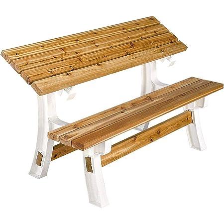 2x4basics 90110ONLMI 90110 Flip Top BenchTable, Bench, Patio Table, Sand