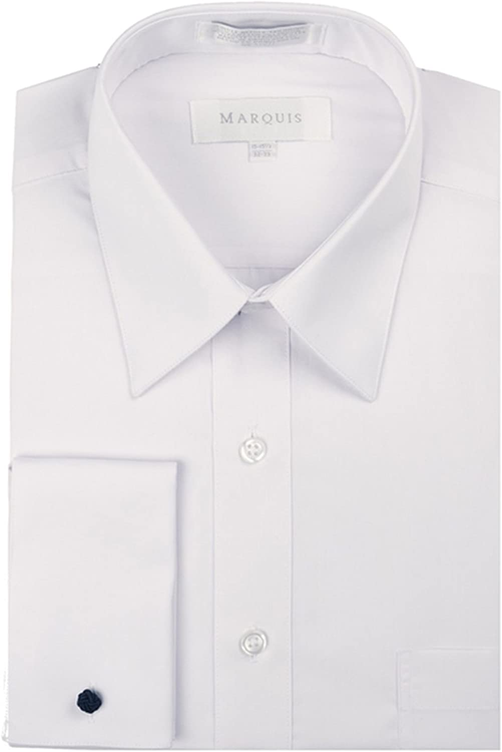 Marquis Men's Slim Fit French Cuff Dress Shirt - Cufflinks Included