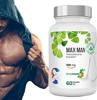 Vegan Testosterone Booster for Men-Weight Loss Supplement- Fat Burner for Men -Gluten Free-Fenugreek Powder Extract-Increase Stamina, Strength, Endurance & Physical Performance-30 Days Supplys