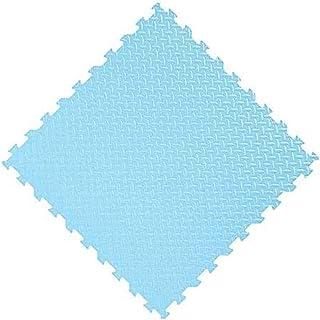 AINIYF Foam Exercise Mat Interlocking Soft Kids Baby EVA Foam Activity Play Mat Floor Tiles,Red,24 Piece (Color : Blue, Si...