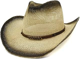 HaiNing Zheng WOmen Men Painted Straw Cowboy Sun Hat Summer Outdoor Beach Hat Narrow Belt Fashion Hat Elegant Sun Hat