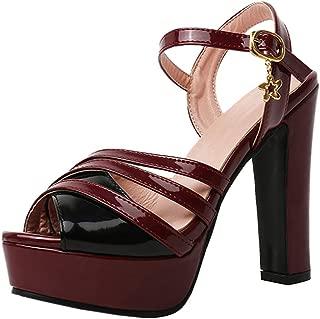 FANIMILA Women Fashion Chunky Heel Summer Shoes Block Heel Sandals
