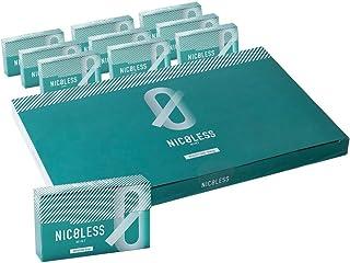 NICOLESS ニコレス ミント 1カートン (10箱入り) IQOS互換機 加熱式 ニコチンレス ヒートスティック ニコチン0 禁煙グッズ 禁煙サポート 健康 タバコ メンソール ミント レモンメンソール オレンジメンソール ストロングメンソール