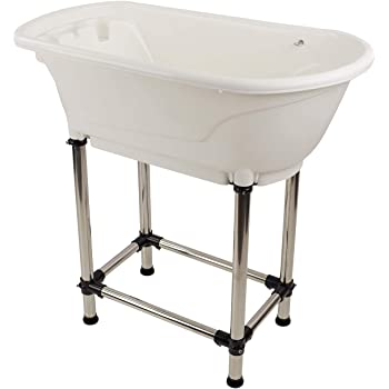 MiMu Raised Dog Bathtub - Pet Grooming Tub Booster Elevated Dog Bath Tub Shower for Small to Medium Sized Cats or Dogs