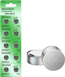 SKOANBE (スコアンべ) AG13 LR44 303 A76 357 SR44 1.5V バッテリー ボタン コイン電池 10個