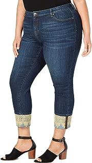 Style & Co. Womens Plus Denim Cuffed Boyfriend Jeans