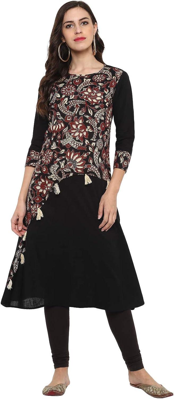 Yash Gallery Indian Tunic Tops Cotton latest Slub Kalamk A-Line Women's Philadelphia Mall