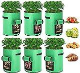 Tvird Macetero Bolsa Planta 4 Pack, Bolsa de Verduras, Bolsas de Cultivo, para Plantas Vegetales Aptas para Plantas de Patata, Zanahorias, Tomates, Cebollas y Otros