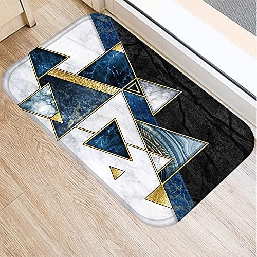 OPLJ Alfombra de Felpudo Antideslizante de Cocina geométrica, Felpudo de Entrada de Dormitorio de Sala de Estar Interior, Alfombra Lavable...
