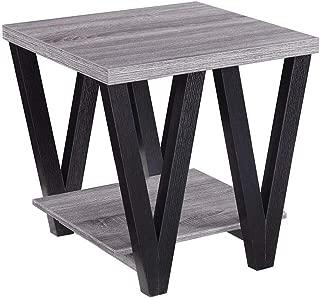 Coaster Home Furnishings 705397 Angled Leg End Table, Black/Grey