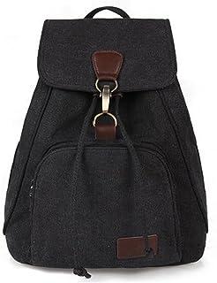 moda simple mochila bolsa de lona de color sólido para el viaje de las señoras casuales niñas bolsas de la escuela Ventilador de la lona de arte cubo minimalista bandolera mochila ultraligera,M8