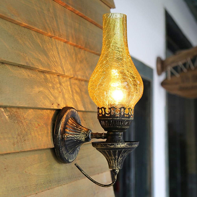 Genuss Retro LED Wandleuchte Kreative Altmodische Antike Wandleuchte Restaurant Bar Balkon Gang Schlafzimmer Nachttischlampe Wandleuchte Luxus