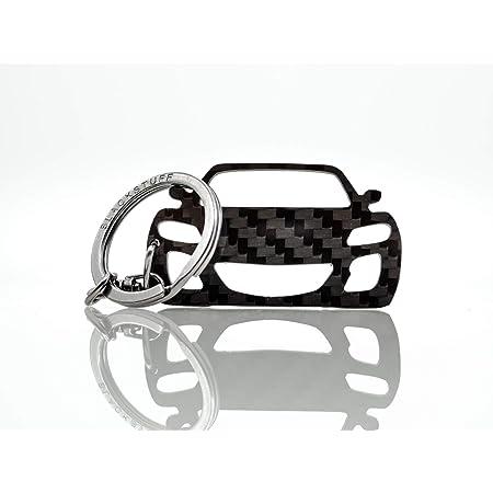 Blackstuff Carbon Karbonfaser Schlüsselanhänger Kompatibel Mit Adam Bs 790 Auto
