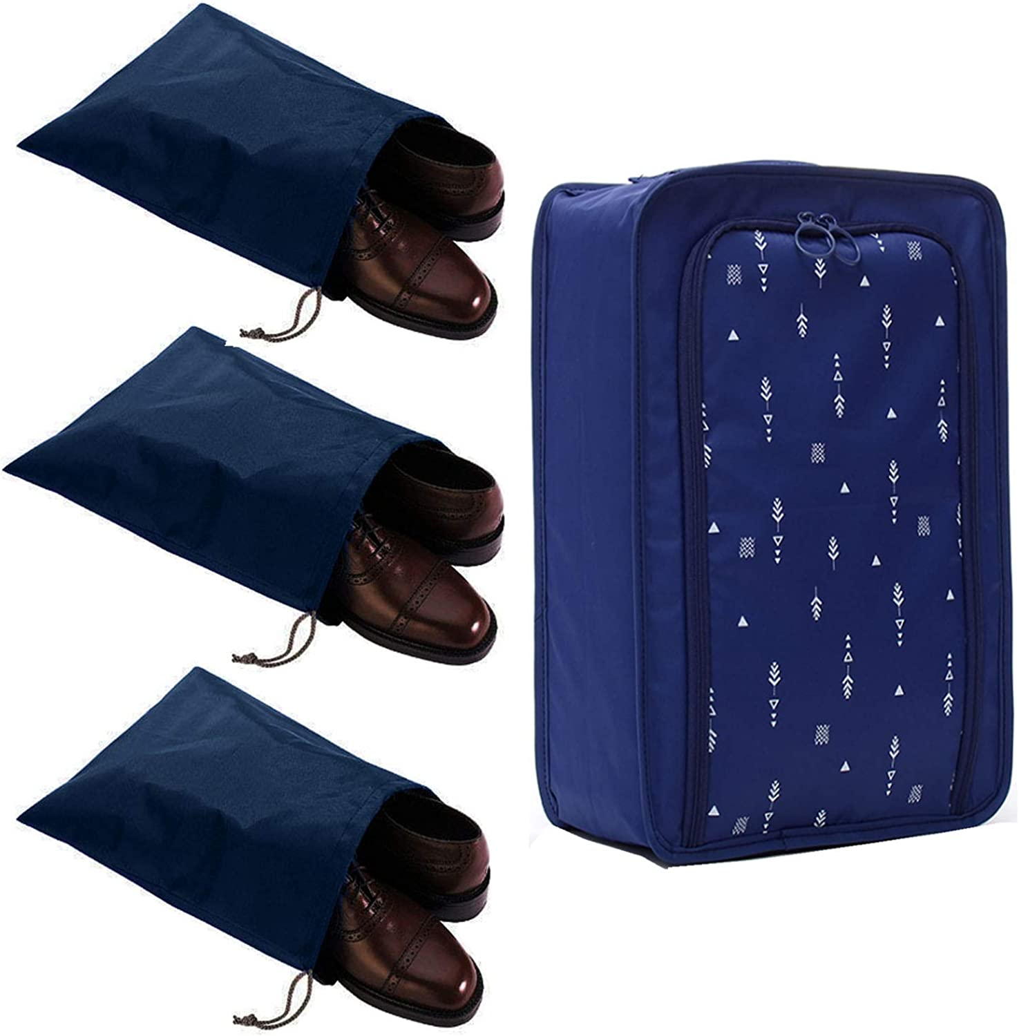 FashionBoutique Set of 4 Great interest Max 73% OFF Waterproof Shoe Bags for Travel