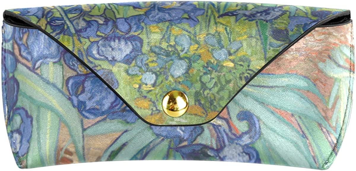 PU Leather Goggles Bag gift Portable Multiuse Art Painting Garden Flower Sunglasses Case Eyeglasses Pouch