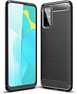 UKDANDANWEI Case for Honor 30S, Carbon Fiber Texture Case Soft Lightweight TPU Back Cover for Honor 30S - Black