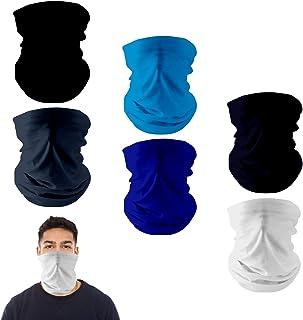 Black Clear Pro Neck Gaiter Warmer Filter Cotton Polyester Spandex
