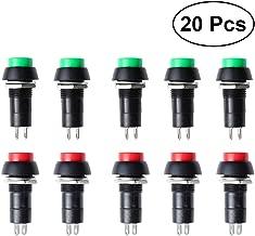 RUNCCI-YUN 14 X Mini-interruptor De Boton Momentaneo Para La Aficion Modelo Ferroviario,1 A 250 V AC 2 pines SPST 7 mm pulsadorredondopulsador 12v momentaneo (Con alambre)