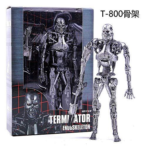 Terminator T800 Esqueleto Guerrero Futuro T1000 Figura De Acción De La Maquinaria...
