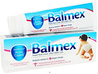 Balmex Zinc Oxide Diaper Rash Cream 4oz (3 Pack)