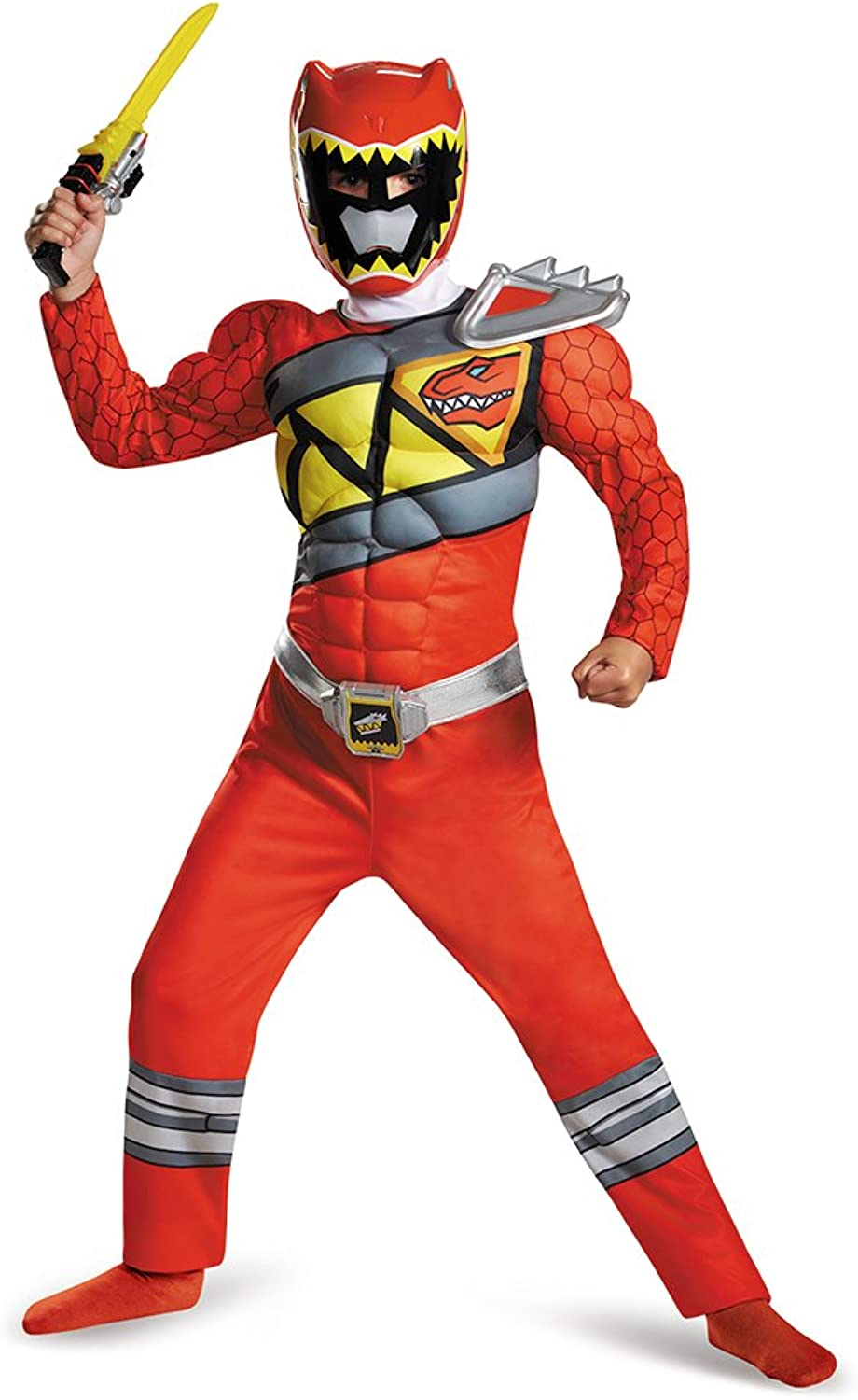 compras online de deportes Disguise rojo Ranger Dino Charge Classic Muscle Muscle Muscle Costume, Large (10-12) by Disguise  venta al por mayor barato