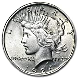 1924 Peace Dollar BU $1 Brilliant Uncirculated