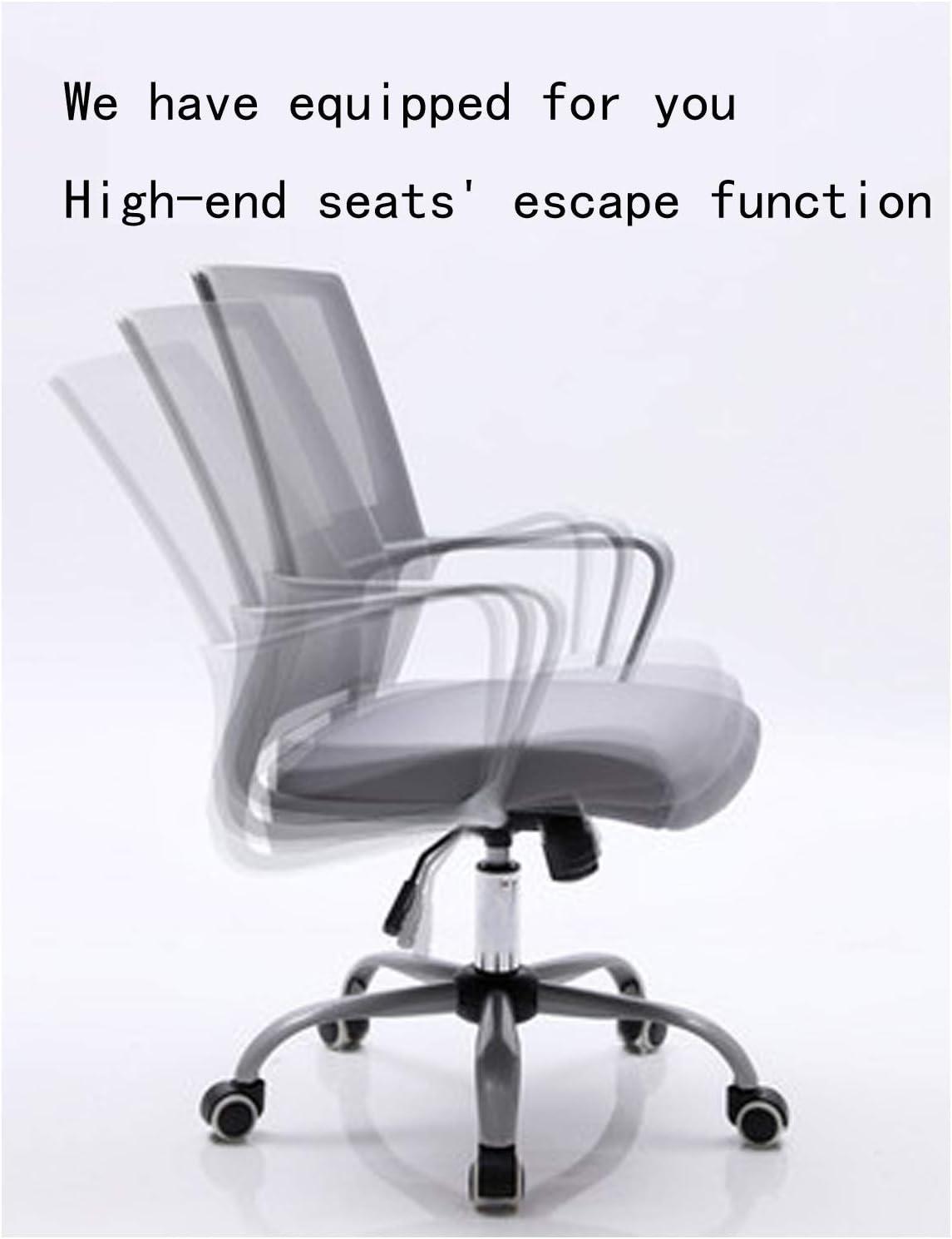 Chaise de Bureau Simple et Confortable Chaise pivotante Chaise d'étude Tabouret Bureau d'étude Retour Accueil Simple Personnel Chaise de Bureau Green Grey