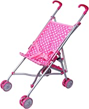 Best Precious Toys Pink and White Polka Dots Umbrella Doll Stroller with Hot Pink Handles and Silver Frame - 0128B Review