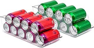 Organisateur de Canettes de Soda 2 Pcs Support de Canette pour Garde-Manger Support de Distributeur pour Canettes Distribu...