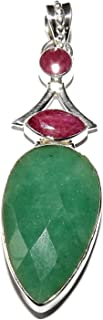 SunnyCrystals Emerald Ruby Pendant 06 High Vibration Spiritual Energy (Gift Box)