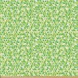 ABAKUHAUS Lime Green Stoff als Meterware, Dreiecke