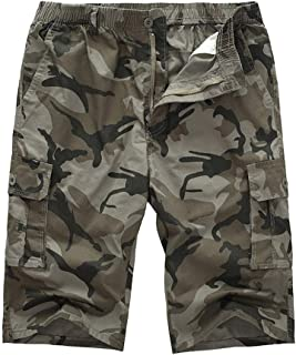 FRAUIT Bermuda Cargo Uomo Taglie Forti Plus Size Oversize Pantaloni da Lavoro Ragazzo Estivi Corti Pantaloncini Shorts Uom...