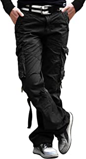 Mens 100% Cotton Tactical Pant Camping Hiking Army Cargo Combat Military Trouser
