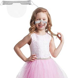 1 PCS Mini Fashion Face Cover, Washable Reusable Comfortable Face Cover, Transparent PVC Visual Face Cover Gray (Gray, 1 PCS)