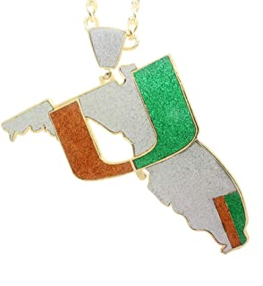 GH Gold Plated Men Jewelry Necklace Miami Turnover Chain 4.0, Fans Gift Sports Jewelry Gift for Men & Women