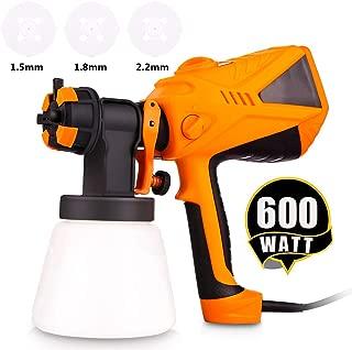 Paint Sprayer 600 Watt HVLP Electric Paint Sprayers Gun for Home Exterior Interior w/ 3 Nozzle Sizes 1000 ml Detachable Container (US Stock)