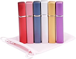 Fashionclubs 12ML Refillable Perfume Atomizer Bottle for Travel Spray Scent Pump Case Pack of 6