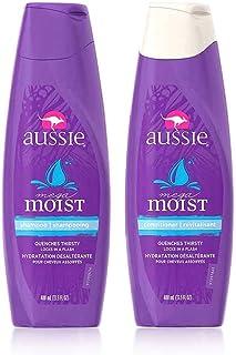 Aussie 袋鼠 保湿滋润洗发水400ml + 护发素400ml 无硅油改善毛躁干性发质修复组合套装