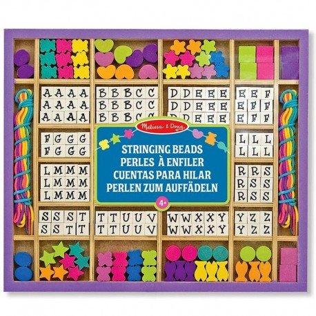 Melissa and doug - Set de perles en bois Alphabet Kit complet 200 pièces Enfants 4 ans +