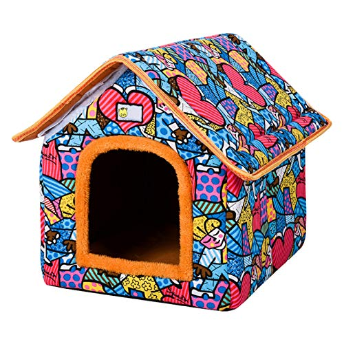 Teeyyui Casa cálida para mascotas, casa para mascotas inter