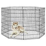 "New World Pet Products B558-48 Foldable Exercise Pet Playpen, Black, X-Large/24 x 48"""