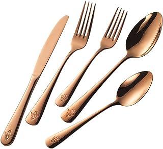 Wonder Woman Dinnerware Set 5-Piece Rose Gold Forks Spoon Flatware Cutlery Set