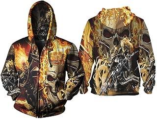 Fans Ghost Rider Antiheroes Fullprint Sublimation Men Hoodie Size S - 3XL