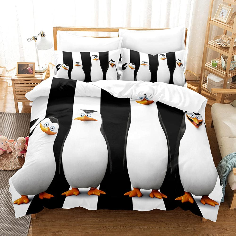 Duvet Cover King Boy Seattle Mall Penguin Easy Care Cosy Soft Set 104x90 Directly managed store Bed