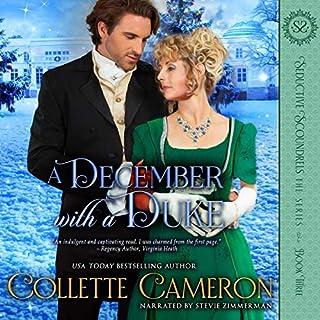 A December with a Duke: A Regency Romance audiobook cover art