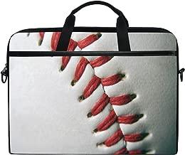 ALAZA Baseball White 15 15.6 inch Laptop Case Shoulder Bag Crossbody Briefcase Messenger Sleeve for Women Men Girls Boys with Shoulder Strap Handle, Back to School Gifts for Her Him